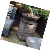 Outdoor Fire Pit Bowl Table Propane Backyard Furniture