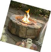 Outdoor Fire Pit Propane Gas Backyard Patio Deck Fireplace