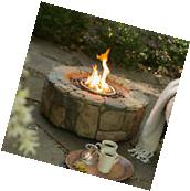Fire Pit Stone Design Outdoor Home Patio Gas Propane Heater