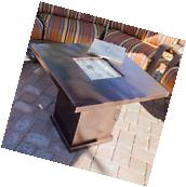 Outdoor Fireplace Fire Pit Table Top Patio Garden Propane