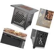 Gas Fire Pit Outdoor Backyard Fireplace Patio Propane Heater