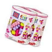 Mega Bloks First Builders Pink 80 Piece Big Building Blocks