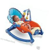 Fisher Price Newborn To Toddler Portable Rocker Blue &