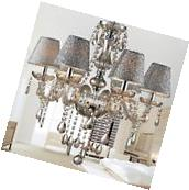 Fixture Ceiling Light Lighting Crystal Pendant Chandelier