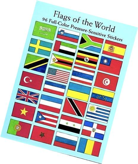 Flags of the World: 96 Full-Color Pressure-Sensitive