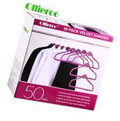 Ollieroo 50 PACK Flocked Non-Slip Velvet Thin Clothes Shirt