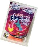30 Pieces Plackers kids Flossers Fruit Smoothie Swirl
