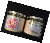 Flower Shop candle 3-wick NEW Bath and Body Works lot of 2