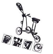 New Foldable 3 Wheel Push Pull Golf Cart Folding Trolley