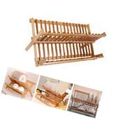Foldable Dish Drainer Plate Culery Dryer Rack Kitchen