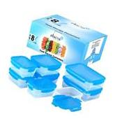 Food Storage Containers BPA Free Plastic Airtight Blue lid