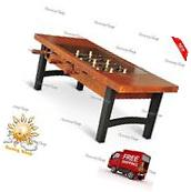 "42"" Foosball Coffee Table Tempered Glass Game Room or Living"