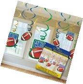 Football Sports 12pcs Hanging Swirl Decorations Birthday