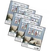 Mainstays 8x10 Format Picture Frame Set of 6 Black