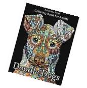 FREE 2 DAY SHIPPING: Doodle Dogs Coloring Book for Adults