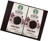 Starbucks French Roast Via Instant Dark Coffee 2 Boxes of 12