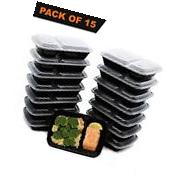 Pack of 15 Fresh PREP Food Containers Tupperware Bento Lunch