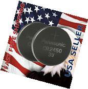 **FRESHLY NEW** 2x Panasonic CR2450 Lithium Battery 3V Coin