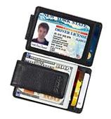 Front Pocket Wallet Money Clip Leather RFID Blocking ID