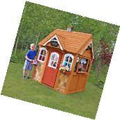 FSC Certified Cedar Wood Outdoor Children's Playhouse with