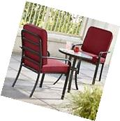 Bistro Set Patio Furniture Outdoor Table Cushion Chairs 3