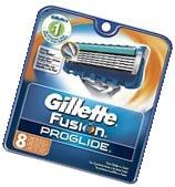 Gillette Fusion Proglide Razor Refill Blades, 8 Cartridges,Original package