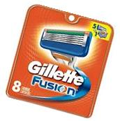 Gillette Fusion Men Razor Blade Refills 8 Count Factory