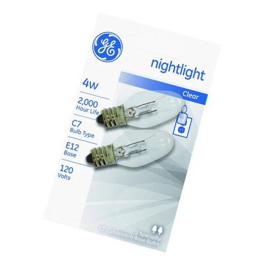 GE Lighting 43050 4C7 4W Clr Night Light Bulb