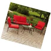 Patio Furniture Conversation Set Garden Deck Cushioned Sofa