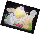 """Precious Moments """"Sharing is Caring"""" Garden Stand, Retired"""