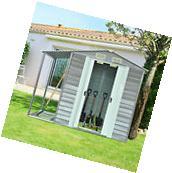 8.5'x6' Garden Storage Shed Tool Backyard Gable Roof Utility