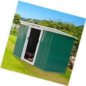 9'x4' Outdoor Garden Storage Shed All Weather Steel Garage