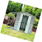 Outsunny 8.4x5 Garden Storage Yard Tool Shed Roof Gable