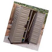 Outdoor Storage Cabinet Garden Vertical Partition Plastic