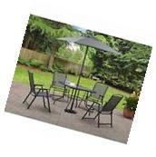 Patio Outdoor Dining Set Garden Yard 6 PCs Table 4 Chair