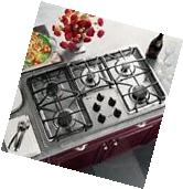 """GE PROFILE 36"""" GAS COOKTOP STAINLESS JGP963SEKSS/SCRATCH,"""
