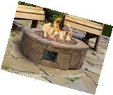 Outdoor Gas Fire Pit Stone Fireplace Patio Propane Deck