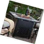 Outdoor Fire Pit Table Propane Gas Fireplace Patio Large