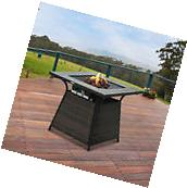 Gas Propane Fire Pit Wicker Design Outdoor Home Patio Heater