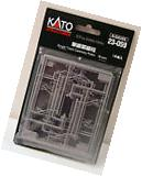 Kato 23059 N Gauge Structures Single Track Catenary Poles.