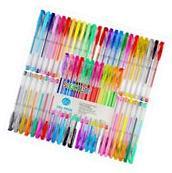 Soucolor 60 Colors Gel Pens Set, Coloring Pens for Adult