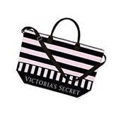 Victoria's Secret Getaway Carry On Bag Black Pink Striped