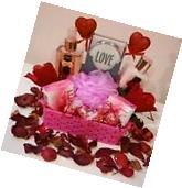 Gift Basket For Women Birthday Pink Spa Bath Body Lotion
