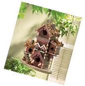 GINGERBREAD-STYLE BIRDHOUSE Bird House Garden Decor New