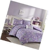 Girls Purple Elephants Paisley Print Full Size Comforter Set