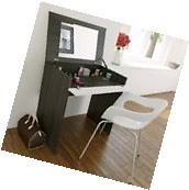 Girls Makeup Table Vanity Set Small Mirror Top Desk Bathroom