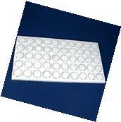Glass Top Jewelry Display Case Box White 50 Gem Jars