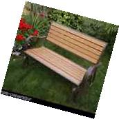 Glider Bench Synthetic Wood Loveseat Swing Outdoor Patio