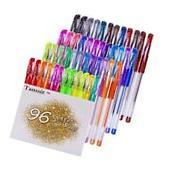 96 Color Glitter Gel Pens Set for Adult Coloring Books