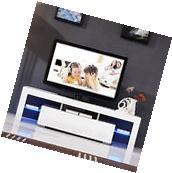 "Modern White 63"" TV Stand Unit Cabinet w/ LED Light 2"